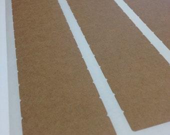 Rectangular Brown Kraft Labels - .5 x 1.75 Inch Rectangle Shape Sheet Labels for Laserjet or Inkjet Printing - set of 80