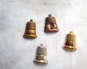 Metal Stamping Initial Thimble Charm