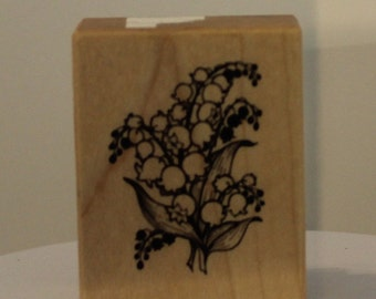 Lily of the Valley Flowers rubber stamp PSX Perfect size for Bible Journaling!