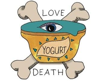 Yogurt Temporary Tattoo - Love-Death-Yogurt - Foodietoos - Foodie Tattoos