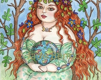 MOTHER EARTH limited edition art print