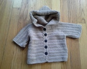 Sweet Baby Hoodie, crochet, size 6 month