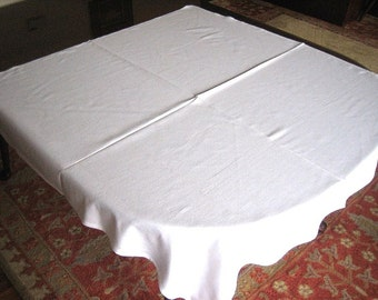 Tablecloth Vintage White Cafe Restaurant Style Table Retro Bistro Solid Supple Cotton Supper Cloth