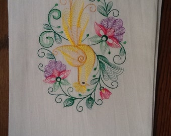 Beautiful embroidered dish towel