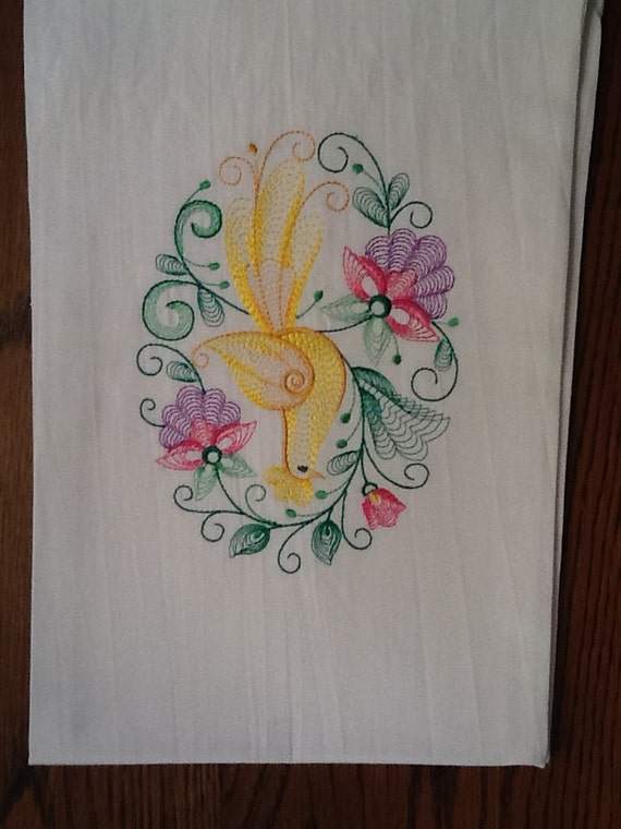 embroidery designs kitchen towels items similar to beautiful embroidered dish towel on etsy 7053