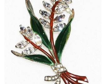 Coro 1930-40's Exceptional Flower Brooch