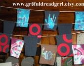 CUSTOM Prayer Flags Grateful Dead Phish Jerry Garcia 13 pt Bolts Tie Dye Indoor Outdoor Camping Festivals