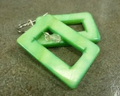 Lime Earrings - Mother of Pearl - Chunky Green