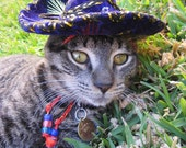 Customizeable Pinata Purple Sombrero for cat or dog