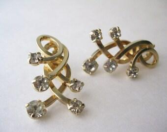 1960s Rhinestone Earrings by Emmons