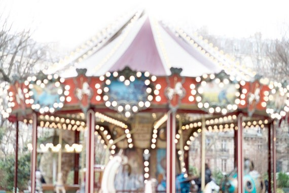 Paris Carousel Photograph Carousel Of Hearts French Decor