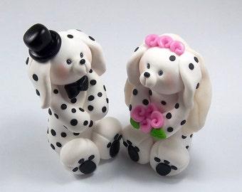 Dalmatian Dogs Wedding Cake Topper, Custom Wedding Cake Topper, Dogs Cake Topper, Personalized Figurines, Animal Wedding Cake Topper