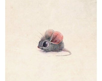 8x10 mouse print on felted paper