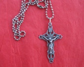 Boys Confirmation Gift - Under Ten Dollars - Crucifix on Chain - Catholic Necklace