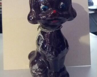 Japan poodle statue dog Japanese 70s 1970s figurine figure decor mod