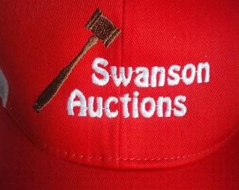Swanson Auctions trucker cap hat men grunge 90s Auction house gavel