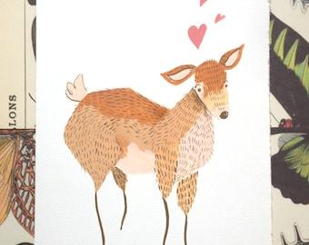 Deer Illustration Print CLEARANCE