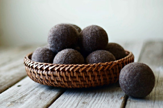 Wool Balls - Felt - Felted Wool Balls - Wool Dryer Balls - Felted Balls - Felted Wool - Felted Dryer - Felted Dryer Balls - Natural Laundry