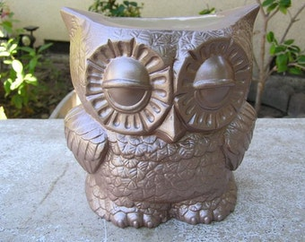 Tootsie Pop Owl Desk Vase Cocoa Brown