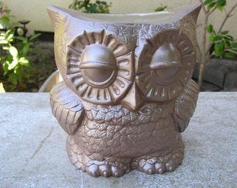Tootsie Pop Owl Desk Vase Cocoa Brown
