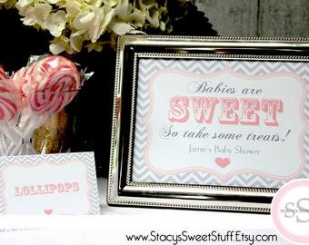 Baby Dessert Candy Buffet Sign, Custom, DIY Printable