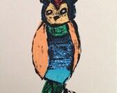 The Happy Owl print