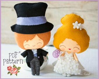 The groom and the bride (PDF Pattern)