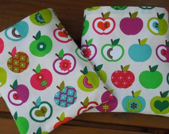 Reusable sandwich and/or snack bags  - Reuse sandwich bag - Fabric snack bag - Bright appleseed  -  Pls. read description before purchasing