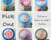 TOP Only* *Seashells and Fish Interchangeable Badge Reel Tops*PICK ONE