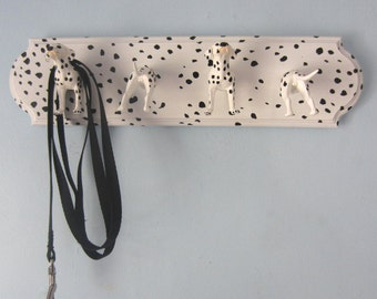 Upcycled Toy Wall Peg Rack with Dalmatian Dog Hooks