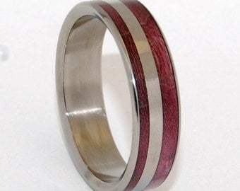 wedding ring, titanium rings, wood rings titanium wedding ring, men's ring, women's ring - PRINCE CHARMING