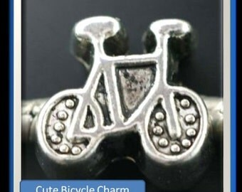 Bicycle Charm - Fits European Style Bracelets
