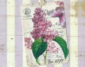 Gift Tags, Lilacs, French Lilac Tags, Vintage Florals
