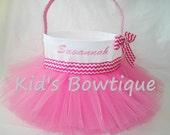 Easter Basket Tutu Bag- Personalized Easter Basket Tutu Tote - Easter Bunny Gift Bag