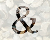 Ampersand print // firewood // mountains // rainbow // nautical // Chicago // wedding decor // housewarming gift // you and me