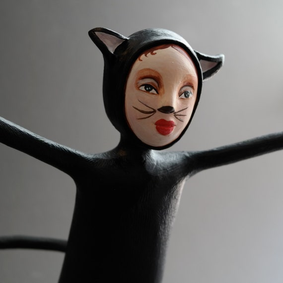 One of a kind doll halloween figurative sculpture ooak trick