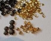 Bead caps ,selection of destash.