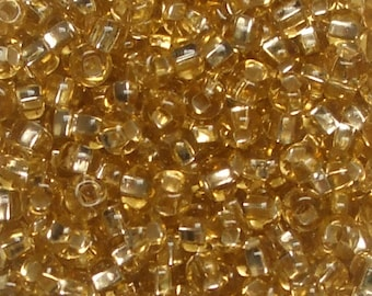 Size 6 Seed Beads for knitting -  SL Gold