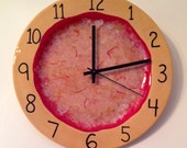Hand-painted Pizza Clock