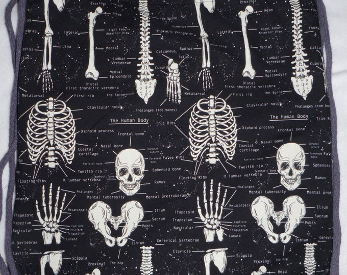 Skeletons Glow In The Dark Anatomy: Backpack/tote