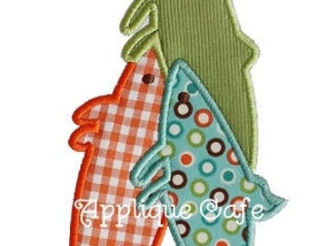195 Three Fish Machine Embroidery Applique Design