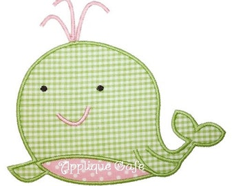 108 Whale Machine Embroidery Applique Design