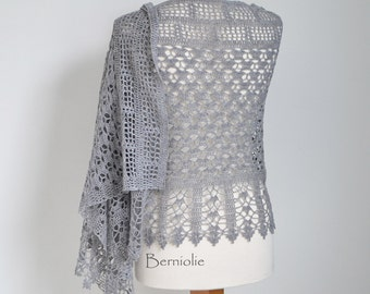 GRACE, Crochet shawl pattern pdf