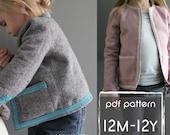 Coco Jacket pattern and tutorial 12m-12y  holiday jacket  coat bolero PDF
