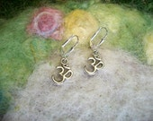 Little Silver OM Earrings, Simple Earrings, Zen, Minimal