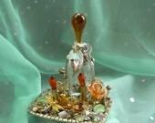 Teardrop jar, Altered Bottle, Spell Bottle by mystic2awesome
