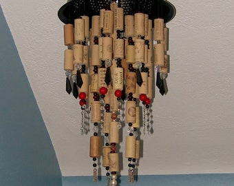 Wine Cork Faux Chandelier