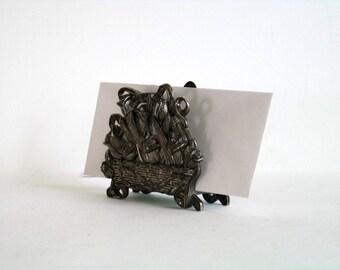 Letter Holder, Letter Organizer. Card Holder Roses in a Basket