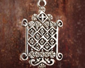 OGOUN VEVE - Solid Cast Voodoo Veve Lwa Voudun Charm Pendant in Sterling Silver or Bronze