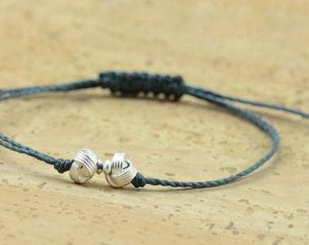 Sterling silver knots bracelet